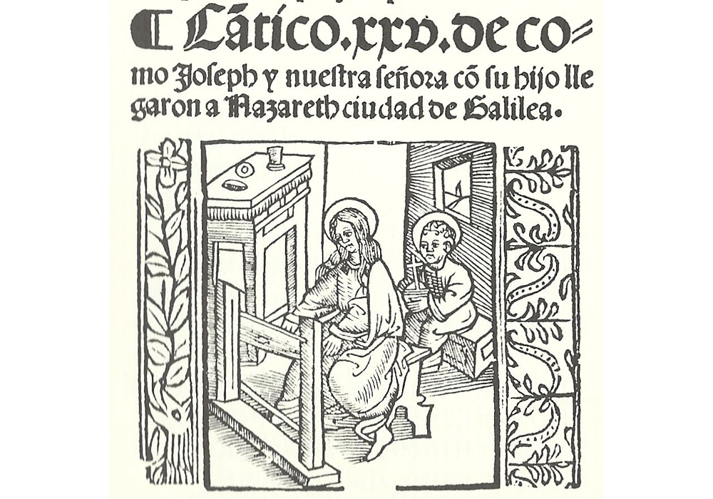 Retablo vida Cristo, Juan Padilla, Incunabula, Old book